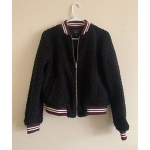 F21 Teddy Varsity Jacket